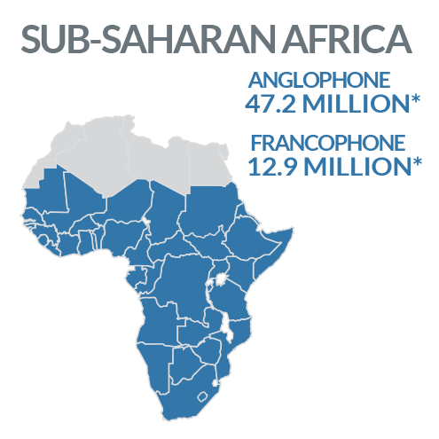 Map of Sub-Sahara Africa